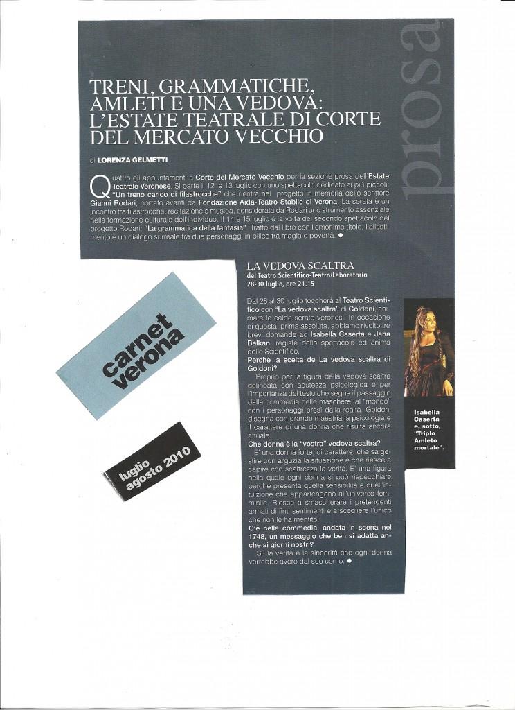 Carnet verona luglio agosto 2010
