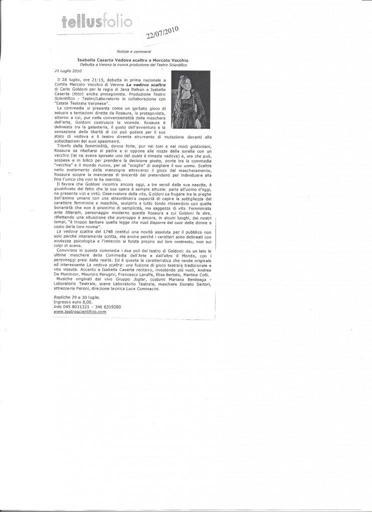 Tellus Folio 22 luglio 2010