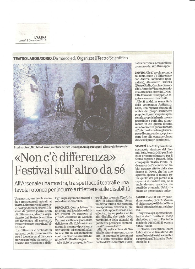 Non c'è differenza L'Arena 1 12 2014